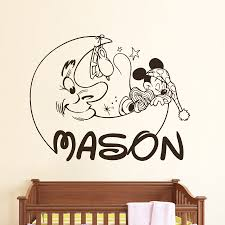Personalized Name Wall Decals For Nursery by Personalized Mickey Mouse Decals Boy Name Wall Decal Nursery Room