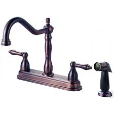 oil rubbed bronze kitchen faucet w sprayer crystal cove 13 7034