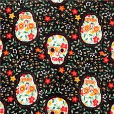 black skull minky fabric traditions fleece plush usa