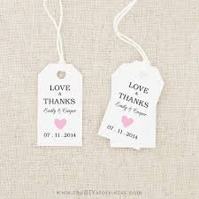 Thank You Tags Wedding Favors Templates by Thank You Labels For Favors Wedding Decor