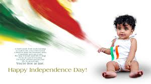 Baby Flag Happy Independence Day Wallpaper With Small Baby