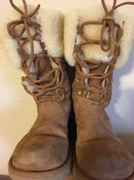 s ugg lace up boots s ugg boots lace up size 5 suede leather mid calf