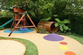 wood kids play toys in green garden design children u0027s garden kids