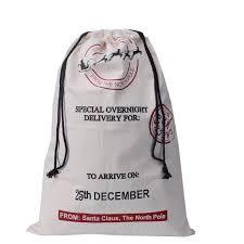 Christmas Decorations Wholesale Uk by Christmas Decorations New Xmas Drawstring Bag Large Canvas Santa