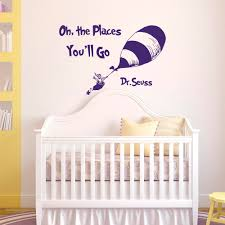 wall decal quotes oh the places you ll go by dr seuss dr details wall decal