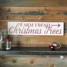 rustic christmas tree solid wood sign farm fresh christmas
