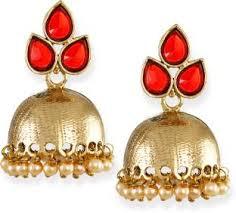 kerala style jhumka earrings jhumka earrings buy jhumki online at best prices flipkart