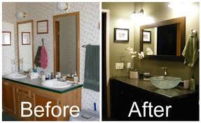 Painted Bathroom Vanity Ideas Emejing Painting Bathroom Cabinets Photos Liltigertoo