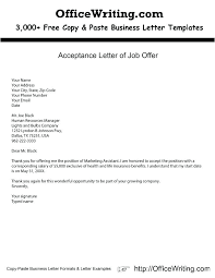Business Letter Offer business purchase offer letter offer employment resignation letter