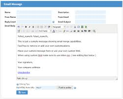 creating mass email messages