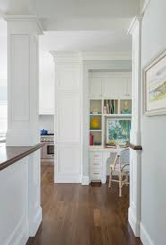 interesting white desk in kitchen with cabinets and area stock