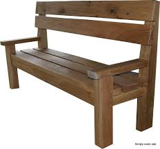 bespoke rustic oak dining benches custom made benches by simply