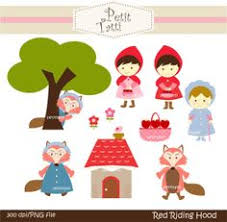 red riding hood felt characters thema sprookjes