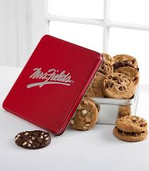 mrs fields gift baskets mrs fields classic tin with one dozen assorted cookies thank