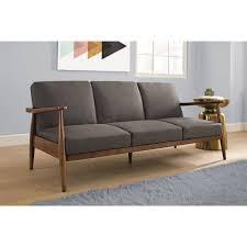 mid century convertible futon sleeper sofa bed mod furniture home