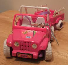 power wheels jeep barbie transportation