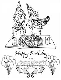 great happy birthday cake coloring page with happy birthday