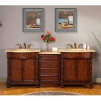 84 Inch Double Sink Bathroom Vanity by 84 Inch Led Lighted Double Sink Vanity With Travertine Uvsr0193tl84