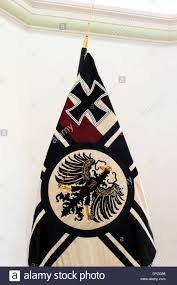 the second reich german war flag with the prussian eagle and the