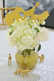 Safari Baby Shower Centerpiece by A Golden Safari Themed Baby Shower Spaceships And Laser Beams