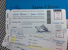 cruise wedding invitations wedding invites cruise ship boarding pass invitation or save the