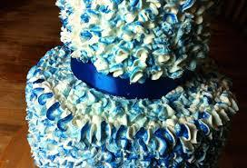 blue paper mache cake youtube