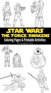 star wars the force awakens printable activities u0026 coloring pages
