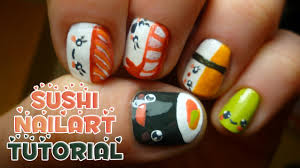 tutorial how to make sushi nail art entry for luckycharms2407