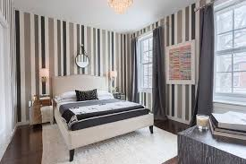 Wallpaper And Curtain Sets Gray And Black Bedroom Vertical Wallpaper Design Ideas