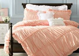 Cotton Bedding Sets Ruched Duvet Covers And Shams Home 100 Cotton Bedding Sets