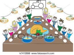 thanksgiving dinner clipart vector graphics 4 443 thanksgiving
