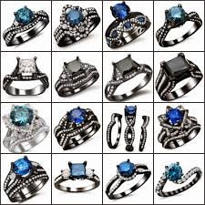black and blue wedding rings women s jewelry news