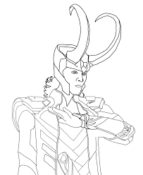 avengers loki coloring page within coloring pages eson me