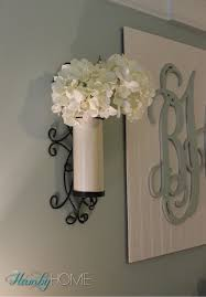 Vase Wall Sconce Using Wall Sconces As Vases The Hamby Home