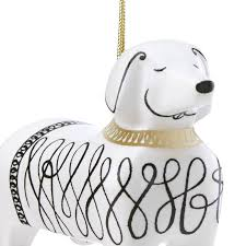 kate spade woodland park dachshund ornament silver superstore