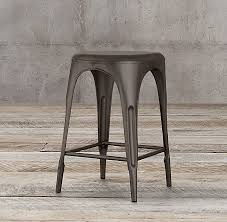 Restoration Hardware Bar Stool Backless Stool