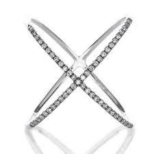 diamond x ring diamond x ring gottlieb jewelry