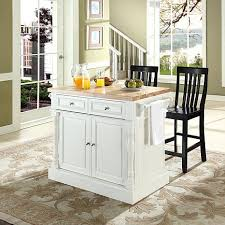 butcher block top kitchen island crosley butcher block top kitchen island with black barstools
