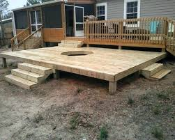Firepit Mat Pits On Decks Up Of Open Pit On Wood Deck