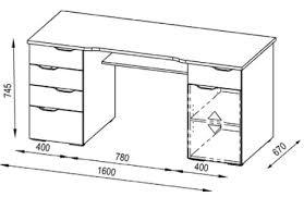 hauteur standard bureau ordinateur dimension bureau bureau blanc mat svartan avec caisson 3 tiroirs