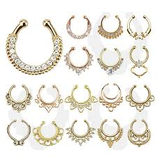 nose jewelry rings images Zircon crystal nose ring jpg