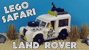 land rover defender safari lego safari land rover youtube