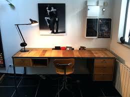 bureau industriel bois et metal bureau bois et metal bureau bois et mactal type industriel bureau