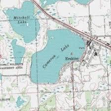 minnesota topographic map cameron lake polk county minnesota lake erskine usgs