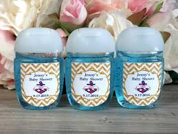 ahoy it u0027s a boy baby shower favor label hand sanitizer label
