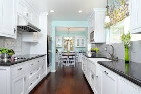 kitchen cabinets galley style attractive galley style kitchen ideas traditional with light blue at