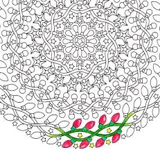 night lights christmas mandala candyhippie coloring pages