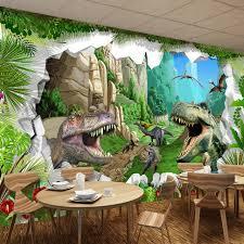 chambre dinosaure peinture murale personnalisée fond d écran 3d dinosaure de bande