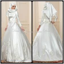 brautkleider vintage style 2017 new arrival sleeve muslim wedding dresses gown