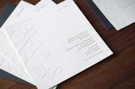 embossed wedding invitations modern blind emboss wedding invitation noteworthy letterpress